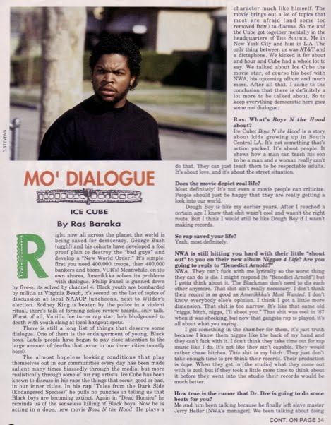Ice Cube interview in The Source Magazine september 1991 #24 1