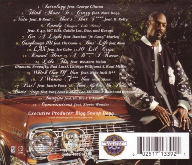 Snoop Dogg - Tha Blue Carpet Treatment - Back