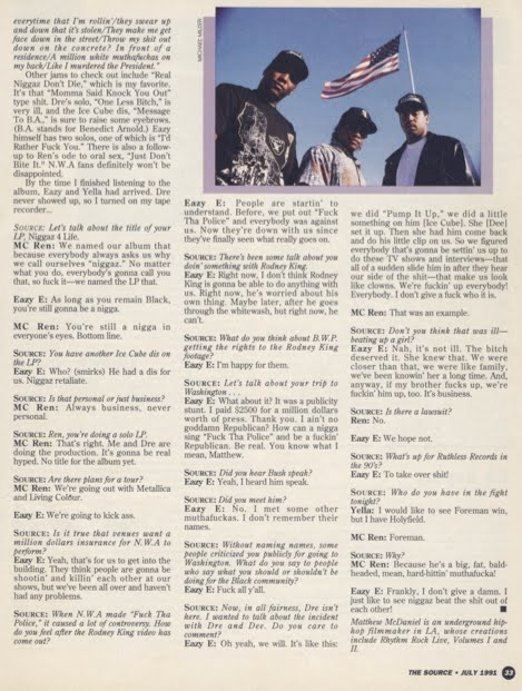 NWA interview in The Source Magazine July 1991 #22 2